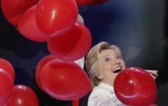 H. Clinton: viena mano favoričių yra A. Merkel