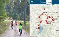 Sukurta mobili Žemaitijos nacionalinio parko automobilių-dviračių trasų aplikacija