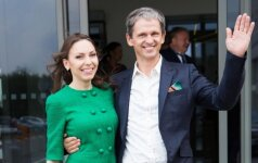 Nerijus Numavičius su žmona Kaetana Leontjeva