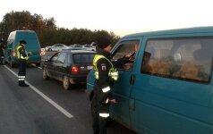 Pirmadienio rytą Kelių policija surengė reidus – įkliuvo 9 neblaivūs vairuotojai