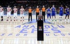 """Eurolygos ketvirtfinalyje """"Anadolu Efes"""" ir """"Daruššafaka"""" išlygino serijų rezultatus"""