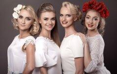 Nemuno šokėjos - vestuvinių suknelių fotosesijoje