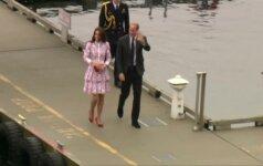 Kanadoje viešintys Princas Williamas ir Kate apsilankė Vankuveryje