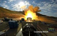 NASA raketos bandymas nušvietė dykumą
