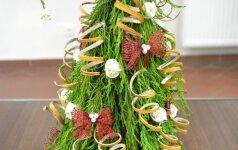 Įkvepiantys pavyzdžiai, kaip susikurti floristinę eglutę