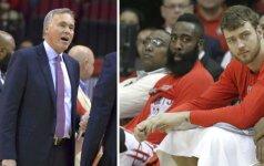 """""""Rockets"""" treneris: D. Motiejūnas turėjo žaisti po 30 minučių"""