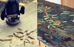 Darau pats: mozaikinis stalas