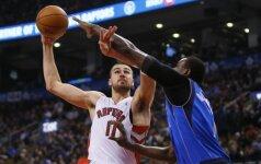NBA lyga: J. Valančiūnas vėl atliko dvigubą dublį, D. Motiejūnas žaidė naudingai