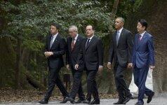 Didžiojo septyneto lyderiai pradeda derybas Japonijoje: susitelkė į ekonominius klausimus