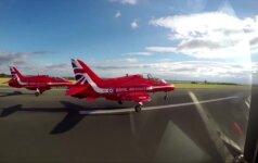 Karališkųjų oro pajėgų aerobatikos komanda debiutavo oro šou Kinijoje