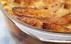 GARDUMĖLIS: duonos ir sūrio pudingas