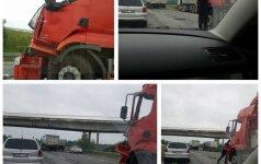 """Dėl avarijos """"Via Baltica"""" kelyje ties Kaunu formuojasi spūstys"""