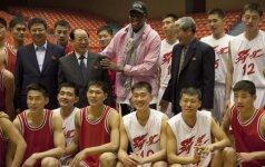 D. Rodmano treniruojama Šiaurės Korėjos rinktinė žais su NBA krepšininkais