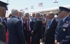 Izraelio parlamentaro asmenukė su D. Trumpu internete sukėlė juoko ir pykčio bangą