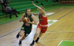 Lietuvos dvidešimtmetės antrą kartą įveikė Ukrainos krepšininkes