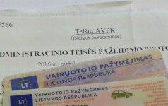 Siūlo atsisakyti reikalavimo vairuotojams vežiotis dokumentus