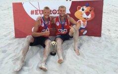 Lietuvos paplūdimio tinklininkams – Europos universitetų žaidynių sidabras