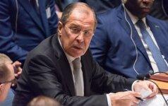 S. Lavrovas: Baltijos šalyse Rusijos grėsmę bandoma naudoti vidaus problemoms spręsti