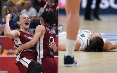 Latvių staigmena: nukovė čempiones serbes ir žais Europos pirmenybių ketvirtfinalyje