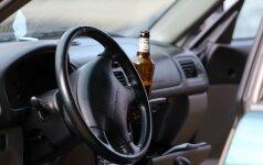 Per savaitę sostinėje pareigūnams įkliuvo 25 neblaivūs vairuotojai