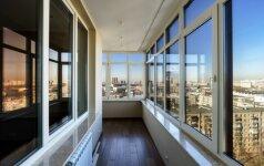 Kaip apšildyti įstiklintą balkoną