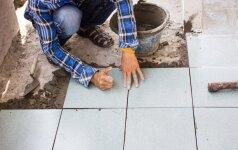Darau Pats: klojame šildomų grindų plyteles