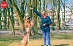 Šunys – vaikų pagalbininkai: kartu sportuoja, skaito ir laiko egzaminus