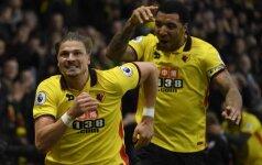 Watford - Everton rungtynių akimirka