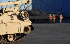 Į Klaipėdos uostą atplaukia belgų karinė technika