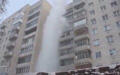 -41ºC speigas Rusijoje: iš 9 aukšto išpiltas verdantis vanduo nepasiekė žemės