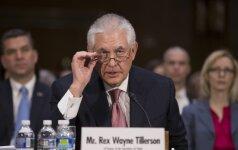 R. Tillersonas JT ragina imtis veiksmų, kol jų nespėjo imtis Šiaurės Korėja