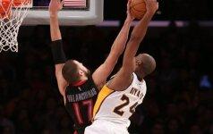 Trečiasis J. Valančiūno sezonas NBA – lemiamas blokas K. Bryantui ir prisitraukimas prie lanko