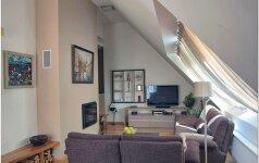Vieno buto interjeras: subtilus ir komfortiškas palėpės interjeras