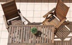 Idėjos, kaip įsirengti terasą, balkoną ir kiemelį