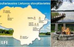 Kai nenori sėdėti namuose: 10 populiariausių stovyklaviečių Lietuvoje