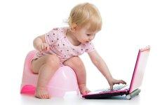 Lengvi būdai pratinti vaiką sėdėti ant puoduko