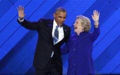 H. Clinton prezidento rinkimuose gavo beveik tiek pat balsų, kiek B. Obama 2012-aisiais