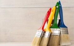 Kaip geriausia valyti dažymo įrankius po darbo