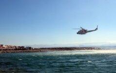 Egėjo jūroje nukritus Graikijos karinio laivyno sraigtasparniui dingo trys žmonės
