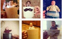 Internete žaibiškai plinta mada fotografuoti vaikus arbatos puodeliuose Foto