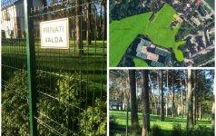 Stebuklai Vilniuje: valstybinis miškas tapo verslininko kiemu