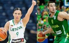 Geriausiais 2011 metų Lietuvos krepšininkais išrinkti J.Valančiūnas ir R.Valentienė