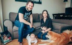Dovilės ir Mantvydo šeima: ne kartą teko išgirsti, kad sulaukus vaiko, teks atsisakyti augintinių
