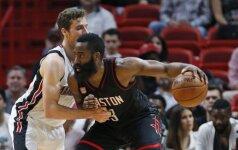 """NBA naktis: """"Rockets"""" netikėtai krito Majamyje, N. Jokičius toliau siautėja"""