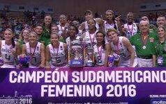 Brazilijos krepšininkės – 14-tą iš eilės Pietų Amerikos čempionės