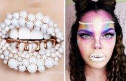 Merginos pabandė atkartoti perlinių lūpų tendenciją. Rezultatai
