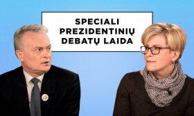 Speciali prezidentinių debatų laida. Vienas prieš vieną: Gitanas Nausėda ir Ingrida Šimonytė