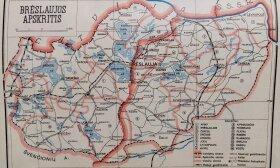 """25 PAV. Žemėlapis iš """"Lietuviškosios enciklopedijos"""" T. 4 (1936)"""