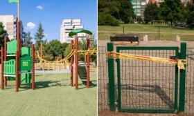 Tikėjęsi sulaukti atnaujintos vaikų žaidimo aikštelės, vilniečiai šalia namų išvydo sudarkytą aplinką