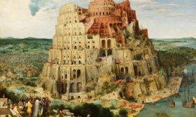 """Piterio Breigelio vyresniojo paveikslas """"Babelio bokštas"""" (1563 m.)"""